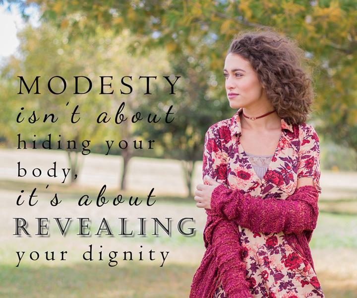 Modesty isn't …