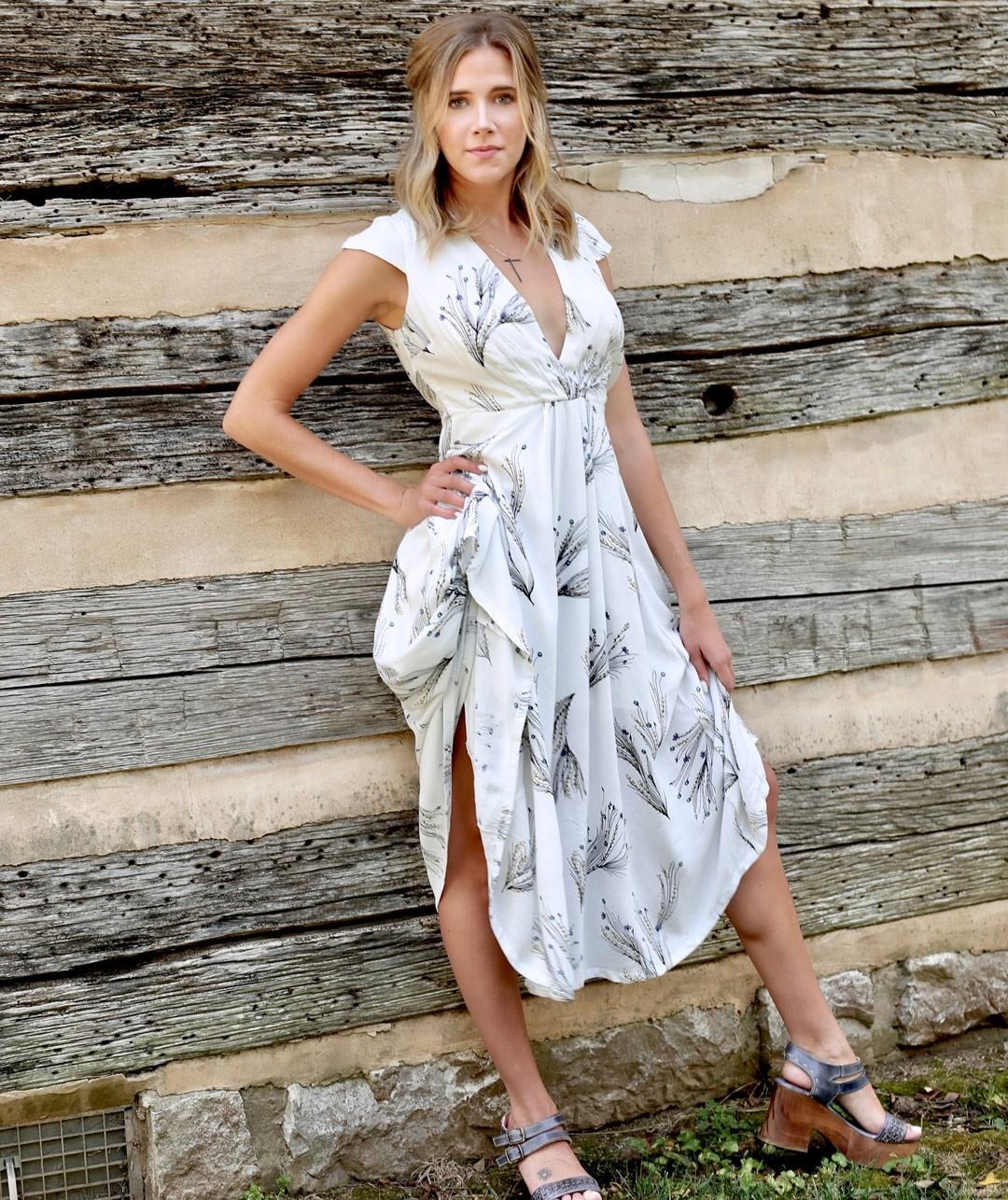 Free People - Printed Retro Midi Dress | Philanthropy Fashion