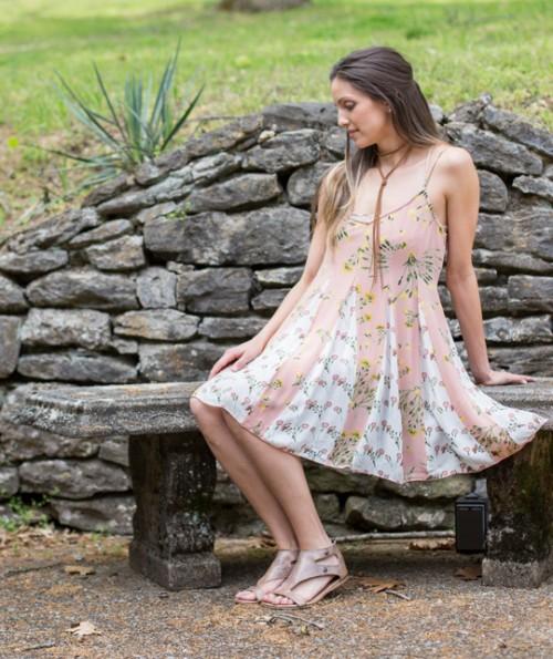 Slaine Sleeveless Floral Dress