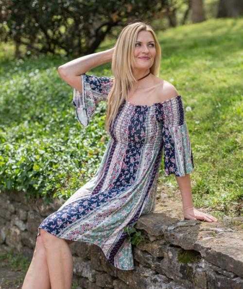 Silvia Open Shoulder Dress