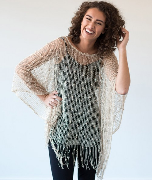 Kai Open Weave Poncho