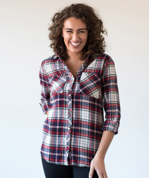 Robin's Hooded Flannel Top