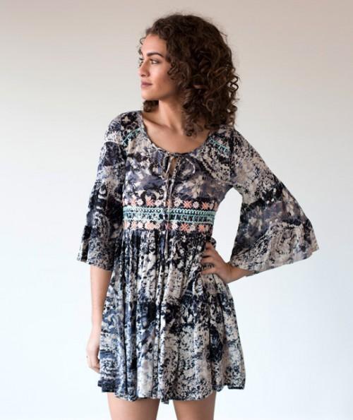 Enya Embroidered Dress
