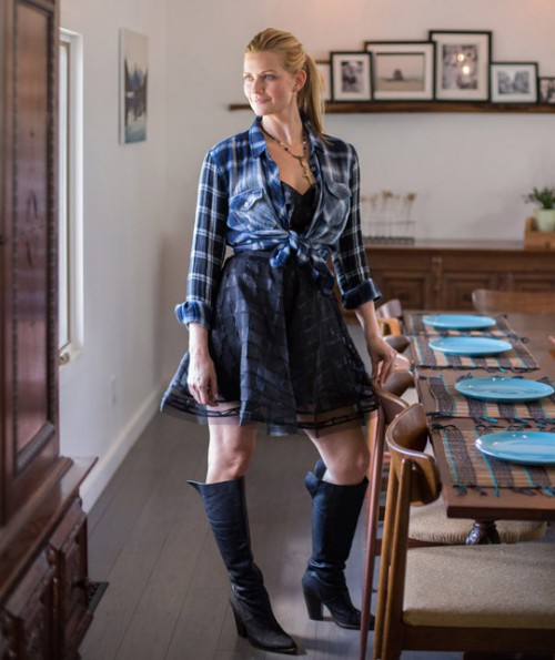 Natasha Organza Mini Dress
