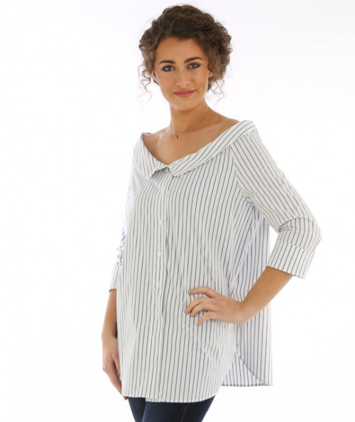 Channing Pinstripe Top