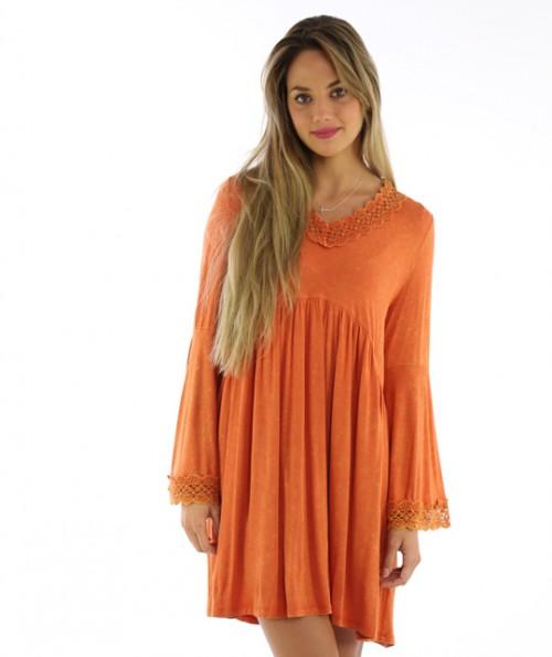 Saffron Lacy Dress