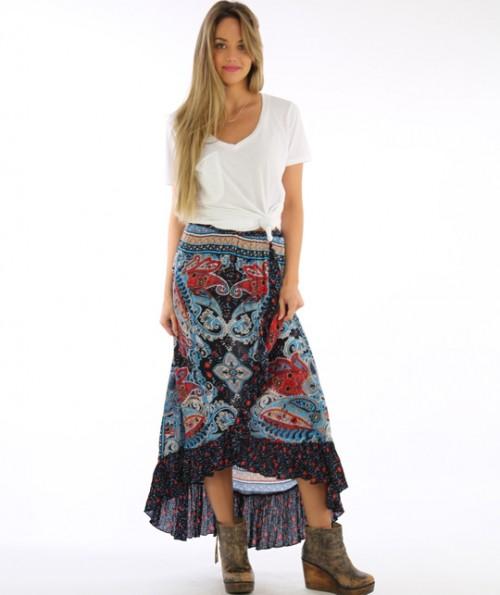 Arista Paisley Skirt