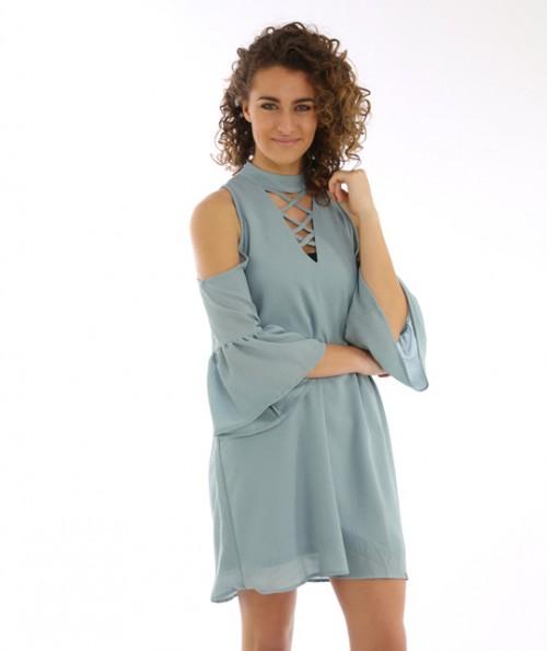 Effie Open Shoulder Dress