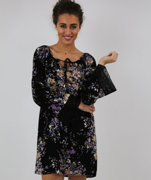 Lila Floral Tunic