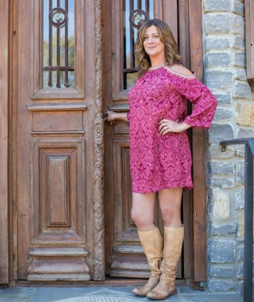 Piazzo Open Shoulder Dress