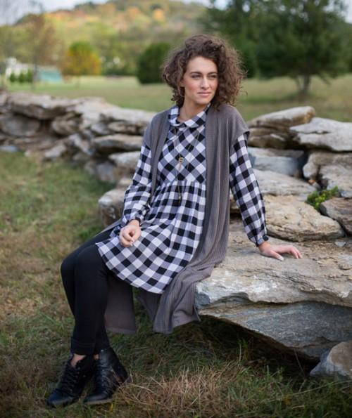 Devon Checkered Tunic